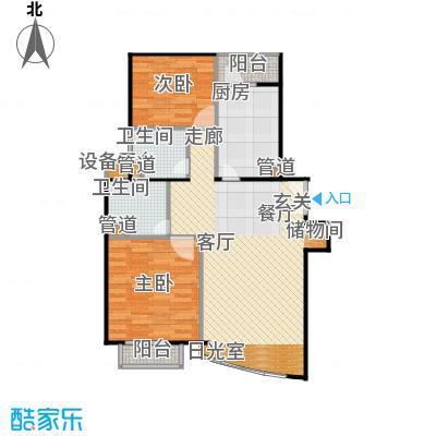 陆家嘴花园二期房型户型2室1厅2卫1厨
