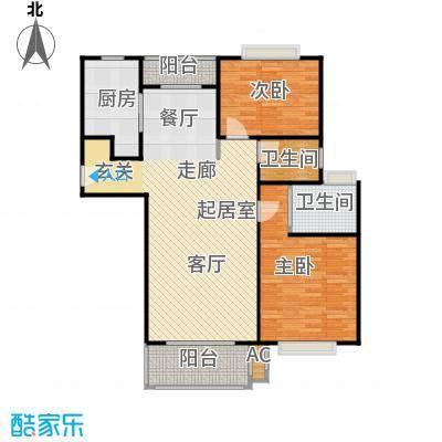 浦东虹桥公寓二期103.92㎡房型: 二房; 面积段: 103.92 -120.97 平方米; 户型