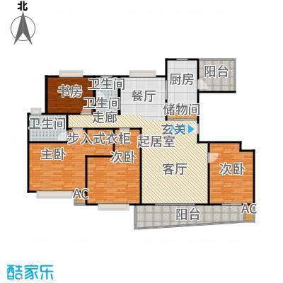 浦东虹桥公寓二期176.99㎡房型: 四房; 面积段: 176.99 -178.08 平方米; 户型