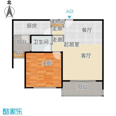 浦东虹桥公寓二期70.00㎡房型: 一房; 面积段: 70 -80 平方米; 户型