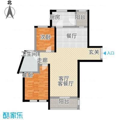 当代清水园二期92.00㎡房型: 二房; 面积段: 92 -120 平方米; 户型