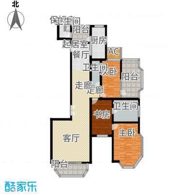 上海滩花园洋房(裕龙花园)174.00㎡房型: 三房; 面积段: 174 -237 平方米;户型