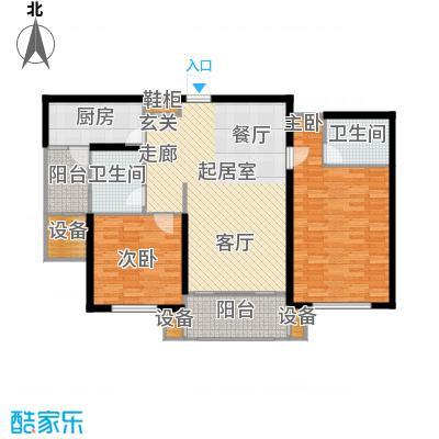 东明家园105.50㎡房型: 二房; 面积段: 105.5 -112.12 平方米;户型