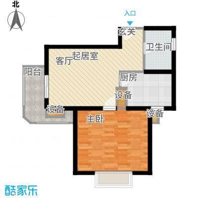名门世家四期64.00㎡房型: 一房; 面积段: 64 -70 平方米; 户型