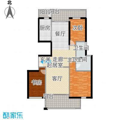 陆家嘴中央公寓一期128.20㎡房型: 三房; 面积段: 128.2 -175.18 平方米; 户型