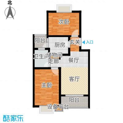 丽苑金桥一景75.76㎡房型: 二房; 面积段: 75.76 -95.87 平方米;户型