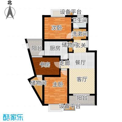 丽苑金桥一景102.00㎡房型: 三房; 面积段: 102 -140.23 平方米;户型