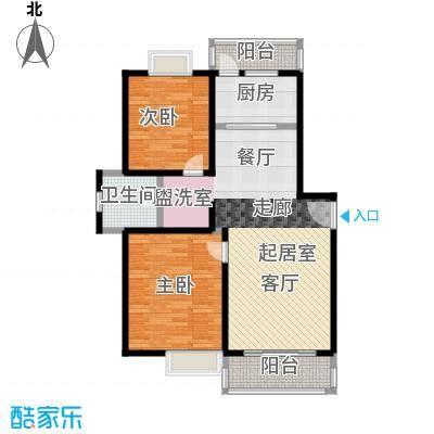 博捷名苑90.00㎡房型: 二房; 面积段: 90 -107 平方米; 户型