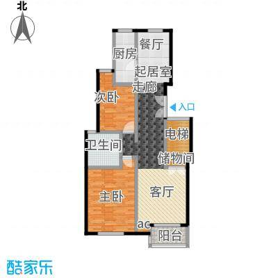 证大家园(三期)90.00㎡房型: 二房; 面积段: 90 -100 平方米; 户型