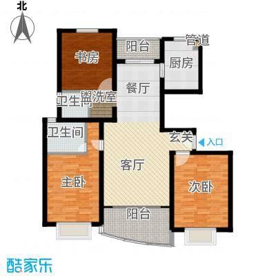 上南春天苑115.00㎡房型: 三房; 面积段: 115 -126 平方米;户型