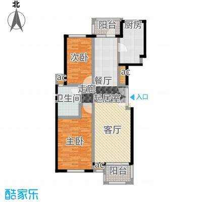 证大家园(三期)90.00㎡房型: 二房; 面积段: 90 -100 平方米;户型