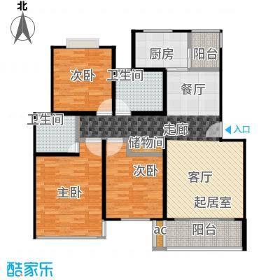 上南雅筑115.00㎡房型: 三房; 面积段: 115 -125 平方米; 户型