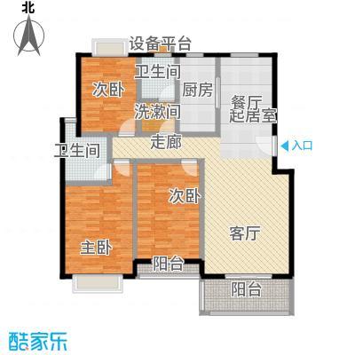 新都花园二期120.00㎡房型: 三房; 面积段: 120 -137 平方米; 户型