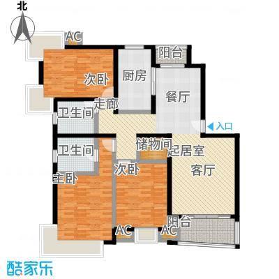 浦东虹桥公寓一期138.37㎡房型: 三房; 面积段: 138.37 -146.58 平方米;户型