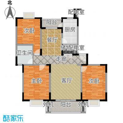 天意洲家园房型: 三房; 面积段: 112.58 -138.06 平方米; 户型