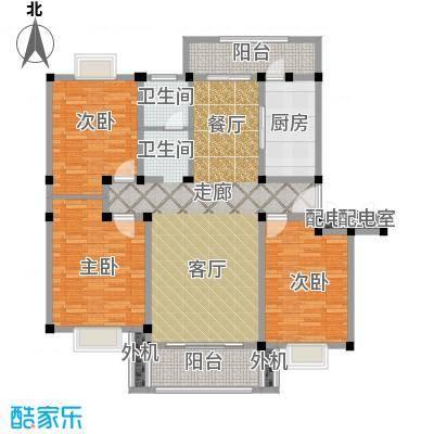 天意洲家园112.58㎡房型: 三房; 面积段: 112.58 -138.06 平方米;户型