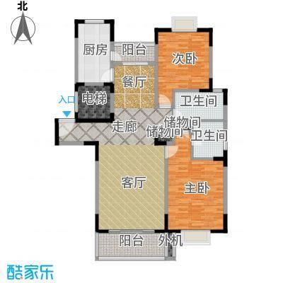 天意洲家园97.27㎡房型: 二房; 面积段: 97.27 -108.83 平方米;户型