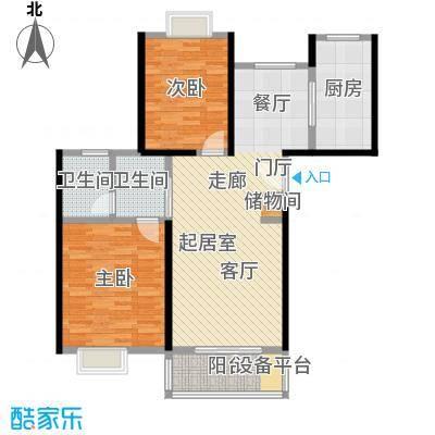 东方听潮豪园89.16㎡32、33、38-43号03户型2室2卫1厨