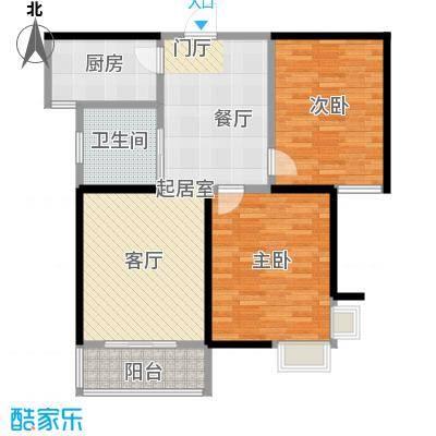 东方听潮豪园84.11㎡32、33、38-43号02户型2室1卫1厨