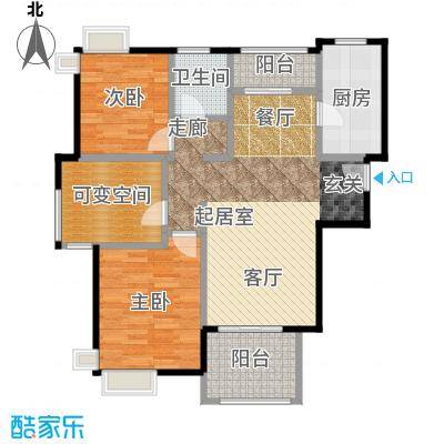 宝华海湾城小高层A-户型2室1卫1厨