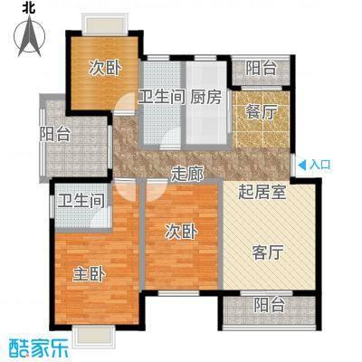 尚成府邸户型3室2卫1厨