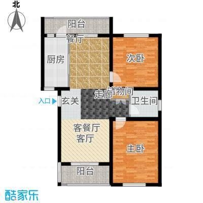珠港华庭A户型2室1厅1卫1厨