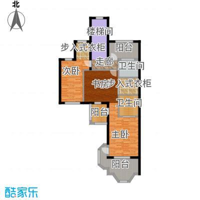 宝华铂翠豪庭别墅二层户型2室2卫