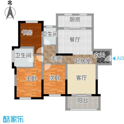 宝华铂翠豪庭公寓A2户型3室2卫1厨