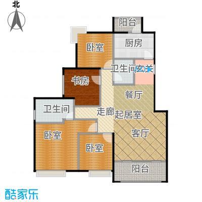 绿地芳满庭L-2公寓户型1室2卫1厨