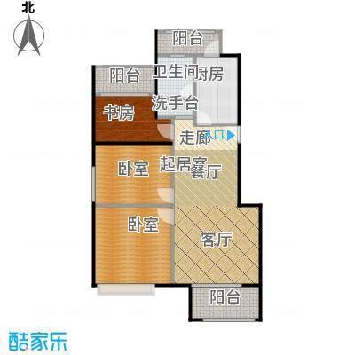 绿地芳满庭J-7公寓户型1室1卫1厨
