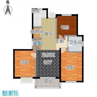 赞成红树林房型户型3室1卫