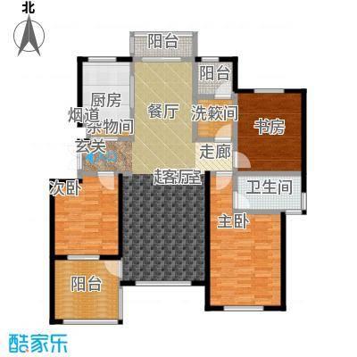 赞成红树林8910号楼3层C3户型3室1卫1厨