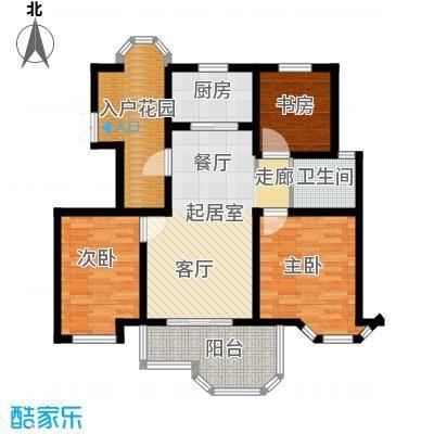 郁金香庭95.00㎡户型3室1卫1厨