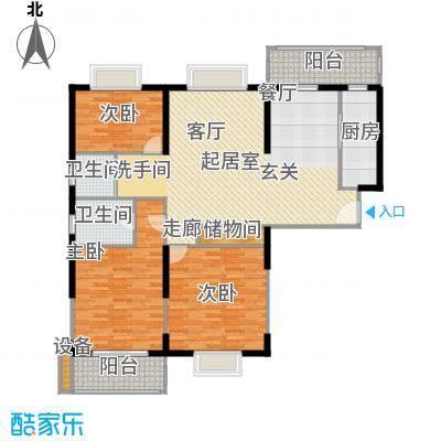 九亭生活佳园140.00㎡房型: 三房; 面积段: 140 -150 平方米; 户型