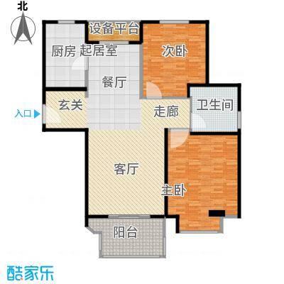 金地松江艺境户型2室1卫1厨
