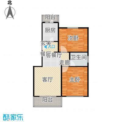 中星雪野家园90.82㎡房型: 二房; 面积段: 90.82 -93.84 平方米; 户型