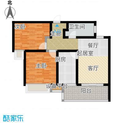 陆家嘴锦绣前城户型2室1卫1厨