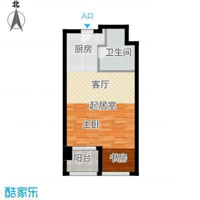 上海鸿音广场A户型1卫