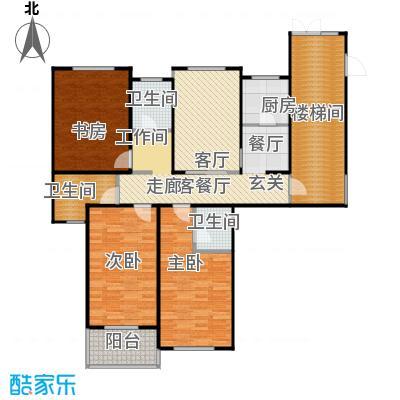 龙源星城130.00㎡三室一厅三卫-136平方米-5套户型