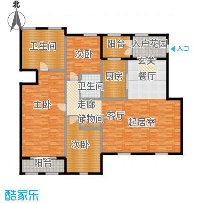 绿城・玉兰花园・臻园188.00㎡C2户型3室2厅2卫