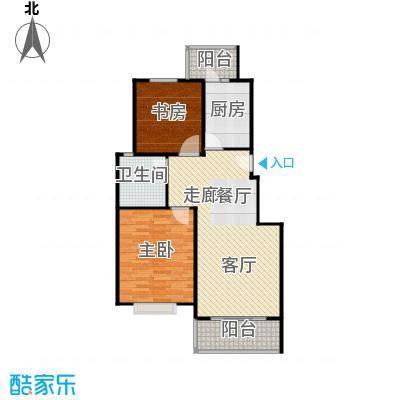 松江世纪新城87.27㎡房型: 二房; 面积段: 87.27 -94.14 平方米; 户型