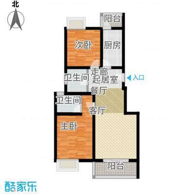 中信泰富朱家角新城5层普通B1d户型2室2卫1厨