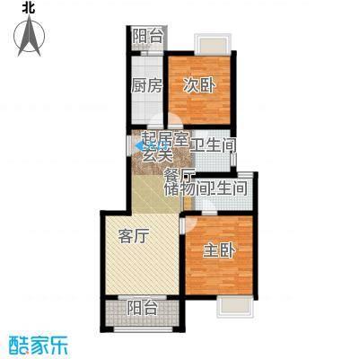 中信泰富朱家角新城A-2户型2室2卫1厨