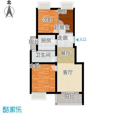 中信泰富朱家角新城5层A3d户型3室1卫1厨