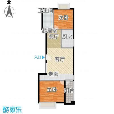 中信泰富朱家角新城A-3公寓户型2室1卫1厨