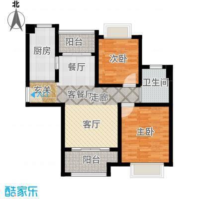 绿地新�香公馆B1/B3户型2室1厅1卫1厨
