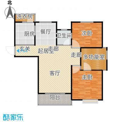 东渡青筑113.00㎡二期P户型2室1卫1厨