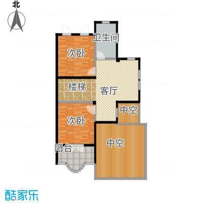 凯迪赫菲庄园双拼DH-S2二楼户型2室1厅1卫