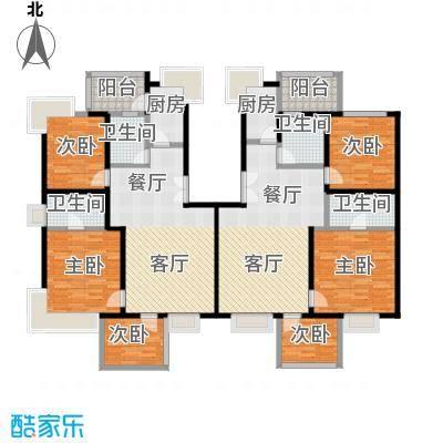 绿中海雅庭6号楼3-5楼户型6室4卫2厨