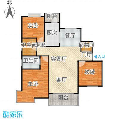 仁恒运杰河滨花园房型户型3室1厅2卫1厨